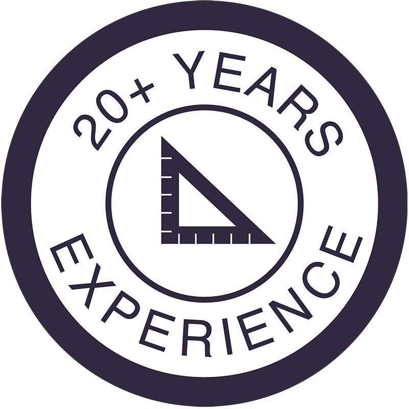 set square icon - 20 years experience